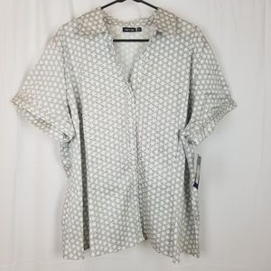 Women's Apt. 9 Top Plus Size 3x Button Front Shirt